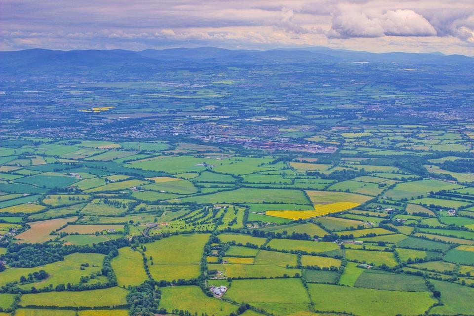 beautiful view of luxurious irish landscape on aeriel tour